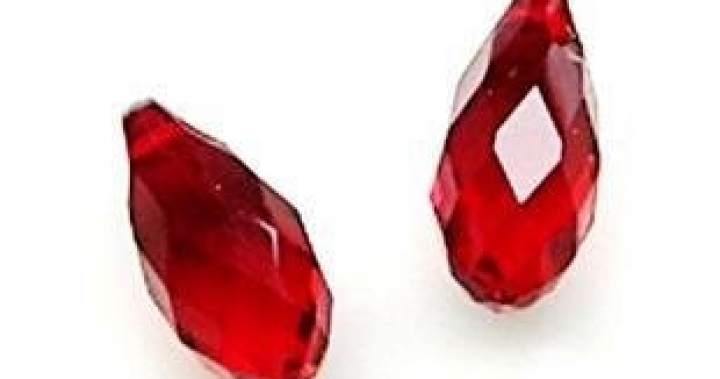 Water drop crystal bead,crystal RED